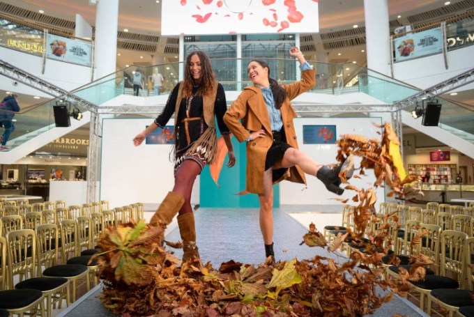 (Left to Right) Models Tillie Spencer and Fiona McDonald take to the catwalk. Photo Credit: Picture Nick Ponty