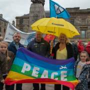 Nuclear Disarmament Protest held at Paisley Cross