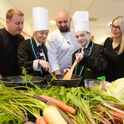High school transformed into hotel as pupils 'Taste the Industry'