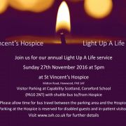 Sponsor a light for someone special this Christmas and help St Vincent's Hospice