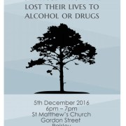 Service of Remembrance for those who have lost their lives to alcohol and drugs