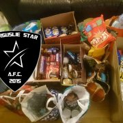 Football players from Ferguslie Star raise funds for Foodbank and Christmas Lunch