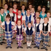 Shoppers entertained by Highland dancers