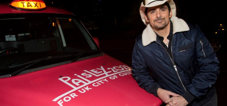 Brad Paisley backs PAISLEY! US country star backs Paisley UK City of Culture 2021 bid