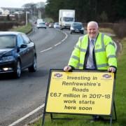 Works set to begin on £6.7m roads investment in Renfrewshire