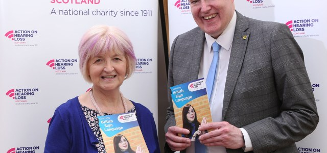 George Adam MSP back charity's call on buddies to make small changes for a big deaf awareness impact
