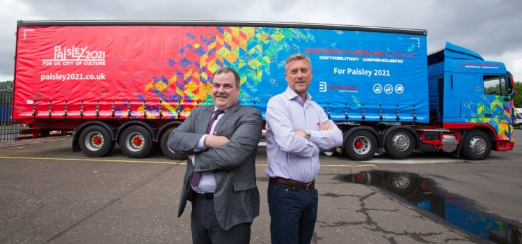 Haulage firm flying the flag for Paisley 2021 with truck
