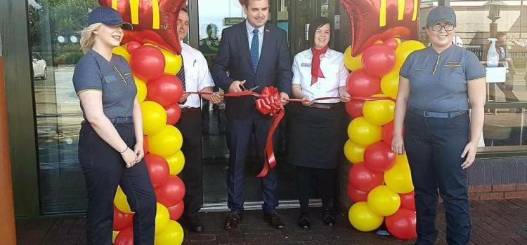 MP Gavin Newlands opens new look McDonald's Linwood
