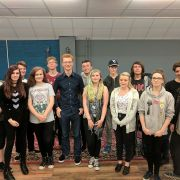Youth members of Erskine Music & Media Studio meet MSP Ross Greer to discuss community and education