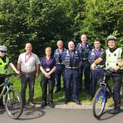 Police spend the day patrolling Johnstone  & the Villages Cycle Tracks as part of an awareness day