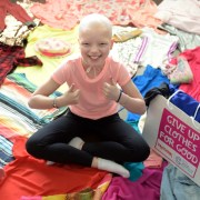 Brave Lily urges Scots to give up clothes and help beat children's cancers