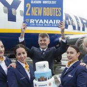 Ryanair's new Glasgow to Madrid and Krakow services take off