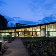 Interior glass installed for new Scottish War Blinded charity building at Hawkhead