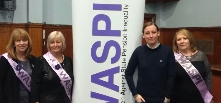 Renfrewshire WASPI group hold an information session at Paisley Grammar School