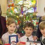 St Columba's Junior School wins Christmas card competition