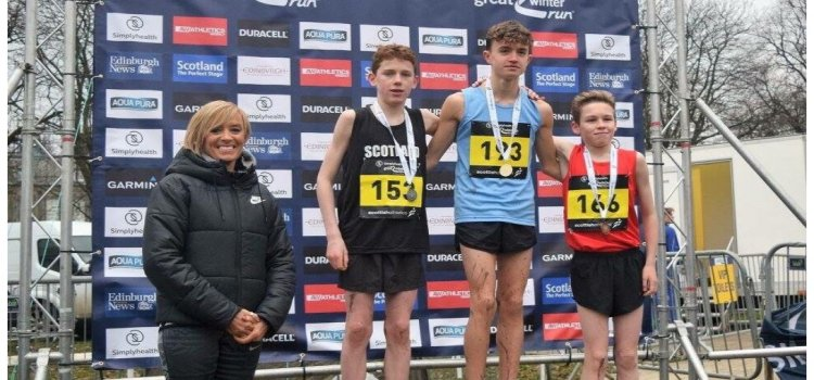Kilbarchan Athletic Club compete in the Scottish Interdistricts Cross Country Championships at Edinburgh
