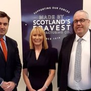 Politicians visit Scotland's Bravest Manufacturing Company in Bishopton which will provide employment opportunities for Scottish Armed Forces veterans