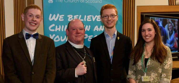 MSP welcomes Church Moderator & Local Young People to the Scottish Parliament