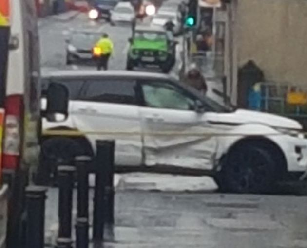 Drivers injured in two car collision on Johnstone High Street