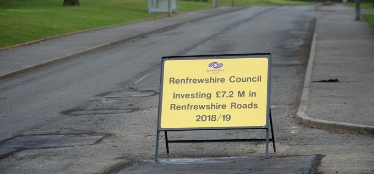 Millions to be invested in Renfrewshire's roads network