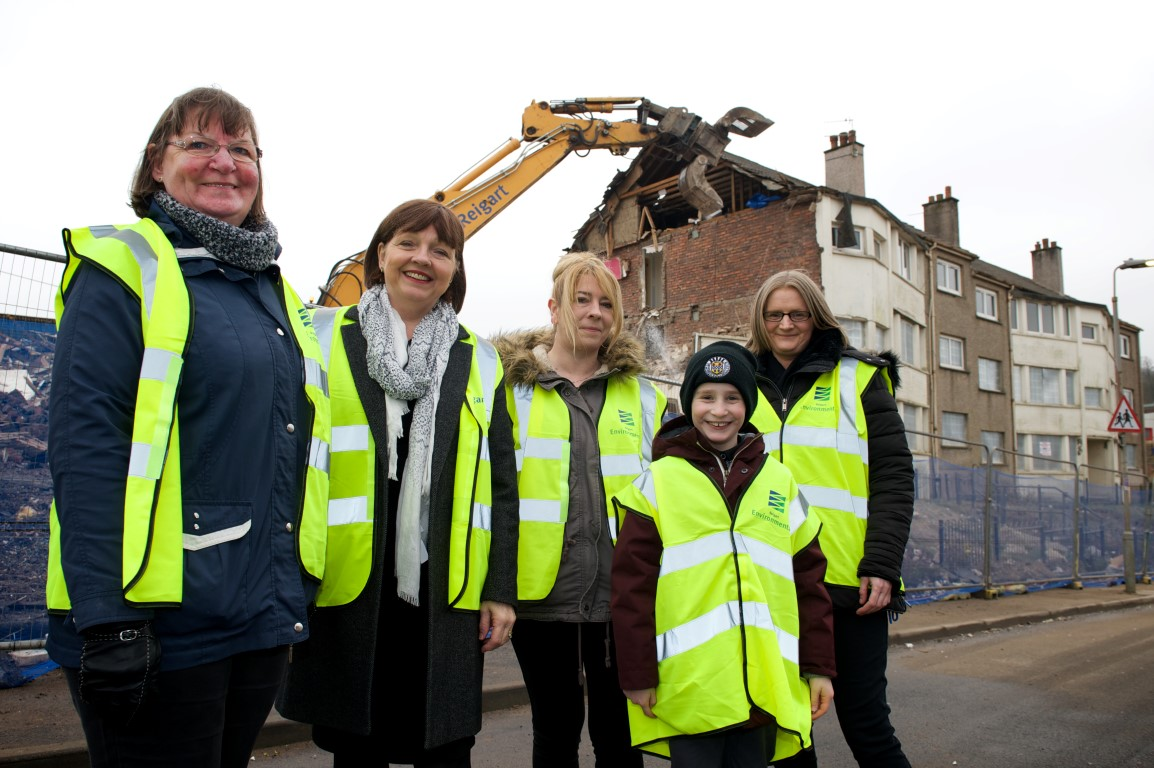 Regeneration work underway in Johnstone Castle