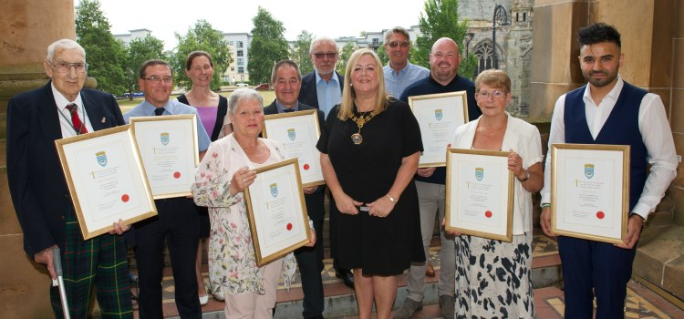 Local heroes honoured by Renfrewshire's Provost for their work in the community