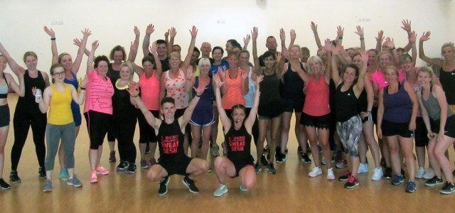 Aerobics class take part in marathon session to raise money for charity
