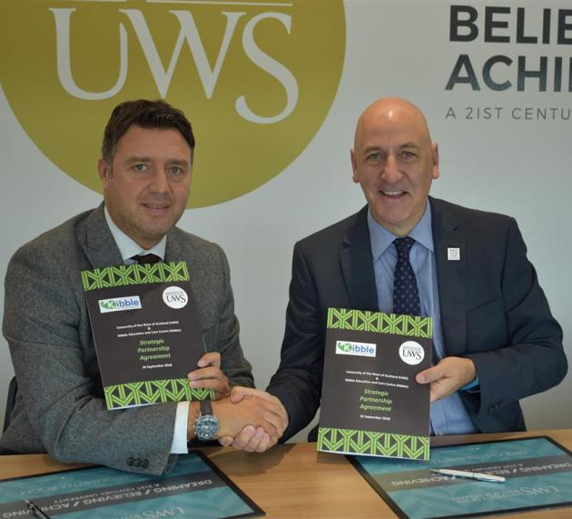 UWS agrees strategic partnership with specialist care provider Kibble