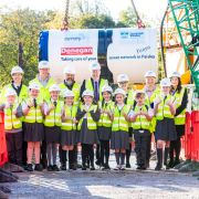 Paisley school children pay a visit to a Scottish Water engineering project in town
