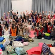School children take part in the Wee Sleep Out and raise over £2,500 for Social Bite