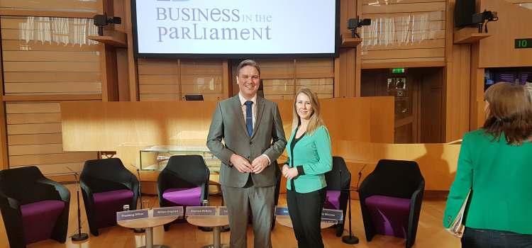 MSP welcomes Jennifer Phin of A.C. Whyte in Barrhead to Holyrood