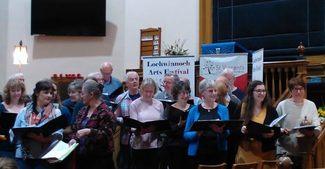Singers raise hundreds for charity at Lochwinnoch Arts Festival