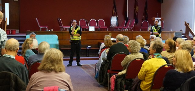 Paisley & District U3A receive a visit from the Police!