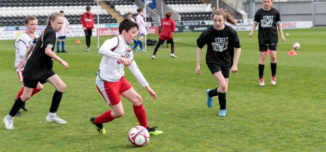 Street Stuff footballers strike it lucky at the home of St Mirren FC