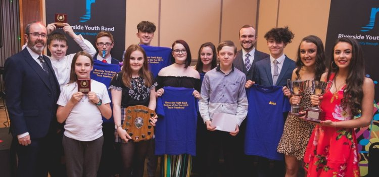 Renfrewshire musicians go for gold at Riverside Youth Band Awards Night