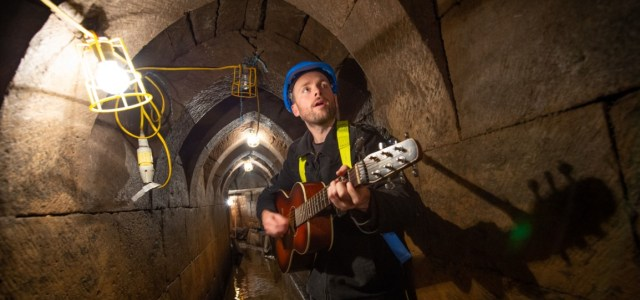 Musician goes underground to pay tribute to Paisley's medieval heritage