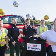 Taylor Wimpey make a donation to Ferguslie Star AFC