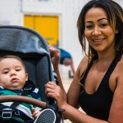 Parents and carers can bring their baby along to a buggy friendly fitness classes