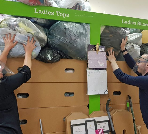 Children's charity 'bursting at the seams' with donations but delighted to welcome customers across Renfrewshire back in store