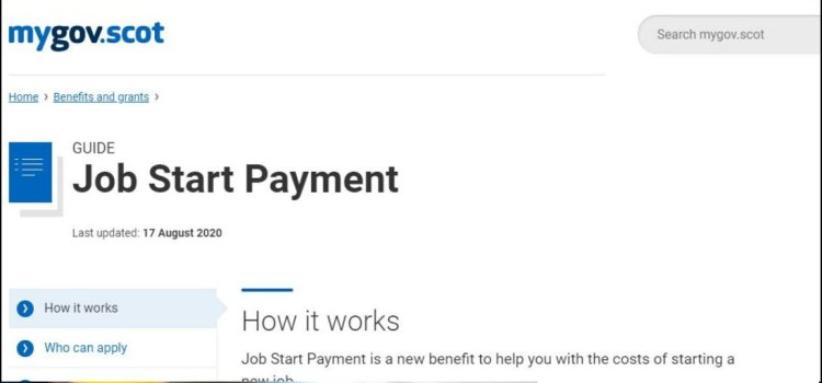 Scottish Government's 'Job Start Payment' now open to applications