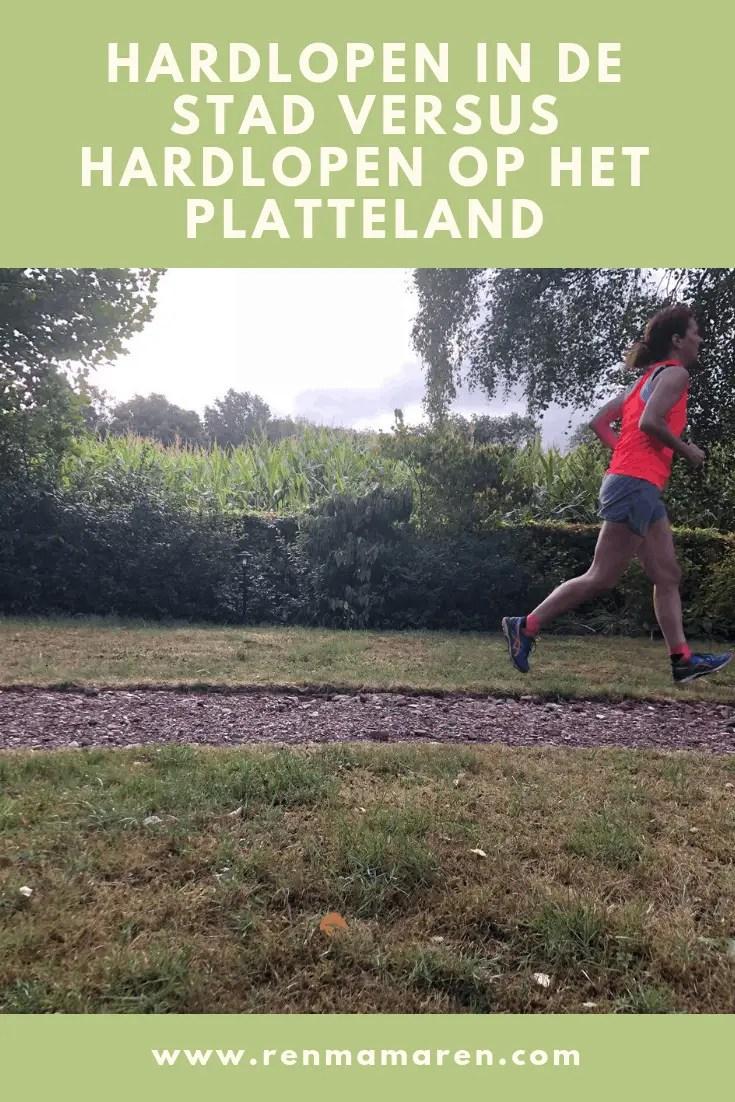 Hardlopen in de stad versus hardlopen op het platteland