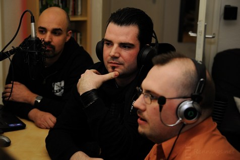 Team SuckerPunch im Radio-Voll-Normal-Studio Gelsenkirchen (13.
