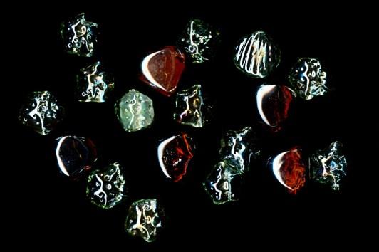 Glas-Deko per Scanografie aufgenommen