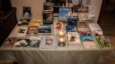 Büchertisch, Wohnzimmerlesung, 20.4.2013, Gladbeck