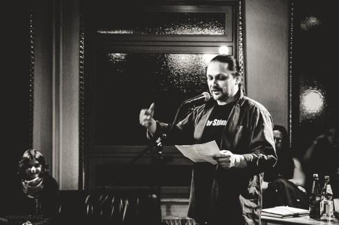 Rainer Wüst, CaféSATZ Poetry Slam, C@fe-42, 6.12.2013