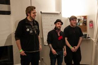 Die Sieger: Tobias Reinartz !3.), Zerbolesch (1.), Tuna Tourette