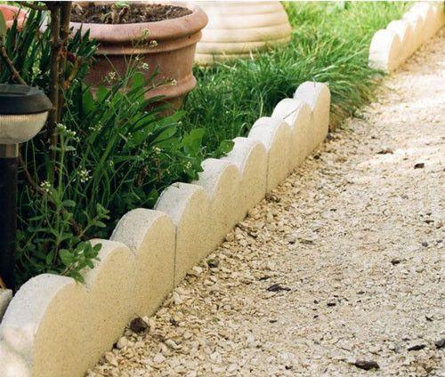 bordures basses en beton