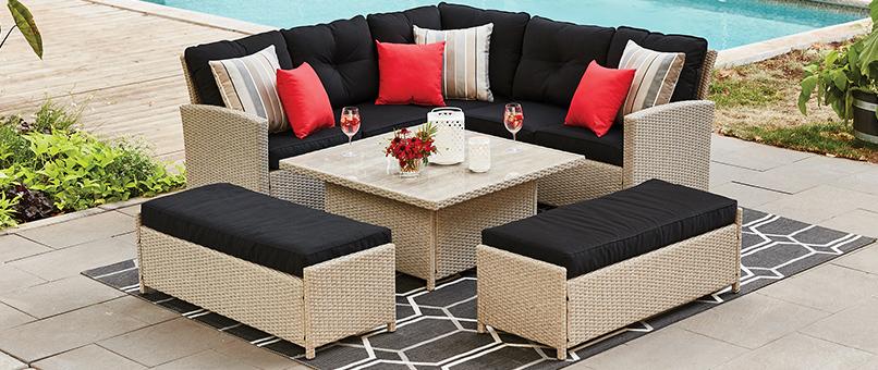 patio and outdoor furniture seasonal