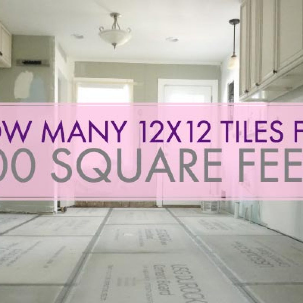 how many 12x12 tiles for 100 square