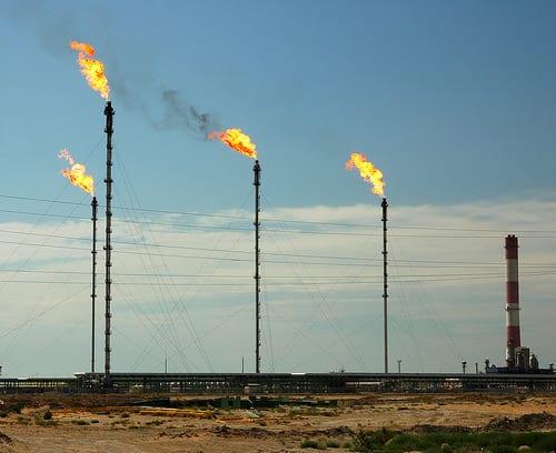 El gas natural también produce contaminación